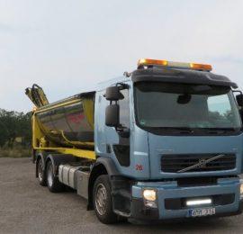 Volvo FE med Sprider och ReCoDrive