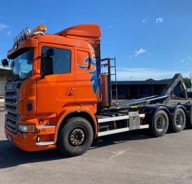 Scania R500 8×4*4 JOAB Lastväxlare Såld till Stockholm